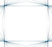 Fractal 46 Blue Frame by Henrik Lehnerer