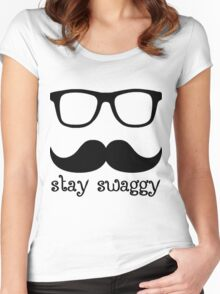 Stay swaggy Women's Fitted Scoop T-Shirt
