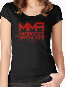 MMA - Murdock's Martial Arts (V04 - Bloodred) Women's Fitted Scoop T-Shirt