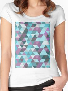 Abstract Geometry Women's Fitted Scoop T-Shirt