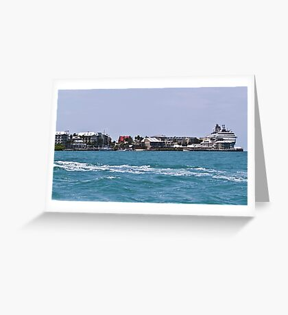 Key West Costal View Greeting Card