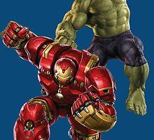Hulk VS Hulk Buster by AvatarSkyBison