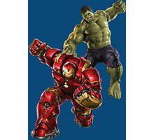 Hulk VS Hulk Buster Photographic Print