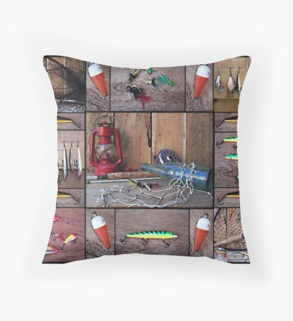 Fishing Favorites Throw Pillow