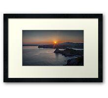 Three Cliffs Bay Gower Swansea Framed Print