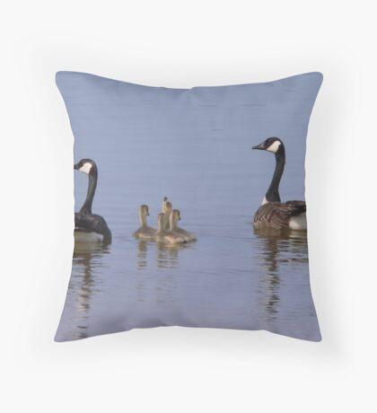 Canada Goose Family Throw Pillow