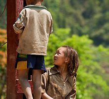 Vietnamese children playing by emmettm