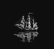 Sailing Upon Grim Waters | Ghost Ship by Daniel Watts