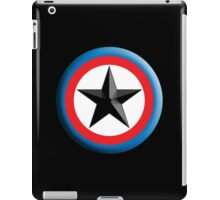 Bulls Eye Star, on Black, Right on Target, Roundel, Archery, Star, Badge, Buttton iPad Case/Skin
