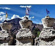 ancient stupas. ladakh, india Photographic Print