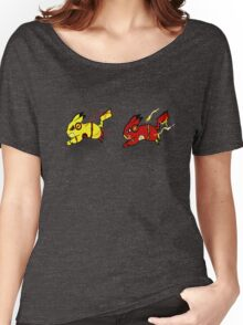 Pika-Flash after Reverse Pika-flash Women's Relaxed Fit T-Shirt