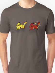 Pika-Flash after Reverse Pika-flash Unisex T-Shirt
