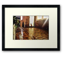 But Remi, it's wet outside!  Framed Print