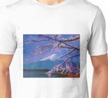 Marvellous Mount Fuji with Cherry Blossom in Japan Sakura Unisex T-Shirt