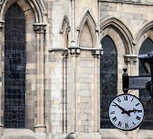 Clock at York Minster by John Hall