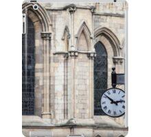 Clock at York Minster iPad Case/Skin