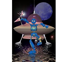 Robots on Water World Photographic Print