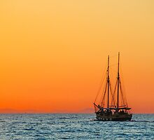 Ship on the sea by franceslewis