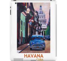 Havana in Cuba  - El Capitolo with oldtimer iPad Case/Skin