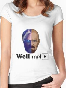 Well meth Women's Fitted Scoop T-Shirt