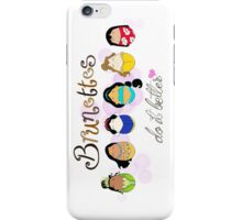 Brunette Disney Ladies iPhone Case/Skin