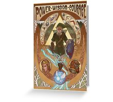Art Nouveau Legend of Zelda Greeting Card