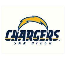 San Diego Chargers Logo Art Print