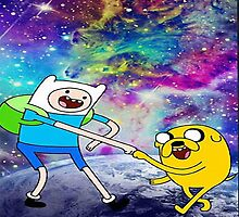 Adventure time galaxy by JackCustomArt