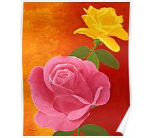 Red and Yellow Roses Poster