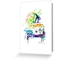 Volkswagen Kombi Splash © Greeting Card