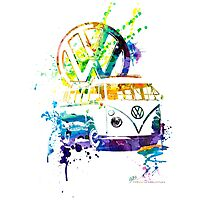 Volkswagen Kombi Splash Photographic Print