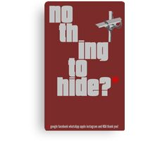 Nothing to hide. Red Asterisk (dark surface) Canvas Print