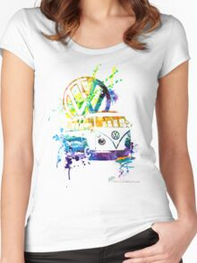 Volkswagen Kombi Splash © Women's Fitted Scoop T-Shirt