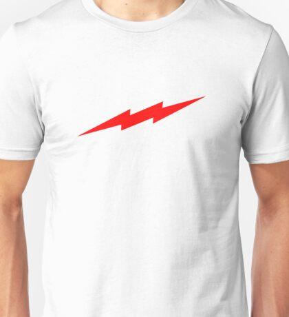 Red Lightning Flash Unisex T-Shirt