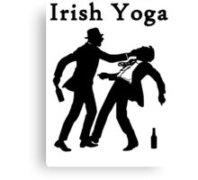 Irish Yoga Canvas Print