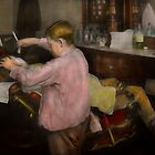 Barber - Shaving - Faith in a child - 1917 by Mike  Savad