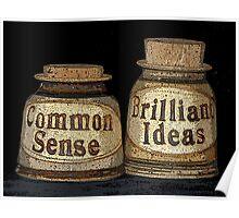 Common Sense & Brilliant Ideas Poster