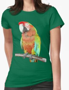 Vector Style Harlequin Macaw On A Perch T-Shirt