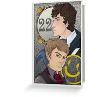 221B Locked Greeting Card