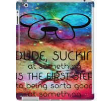 Adventure time finn quote iPad Case/Skin