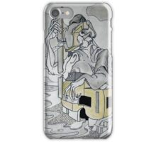 Figure sur la plage 3 iPhone Case/Skin