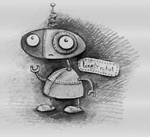 lonely robot sketch no4 by Jo Cave  (cavecorner)