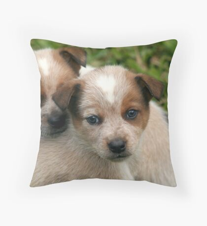 Poster Pups Throw Pillow