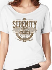Space Pioneers - Brown Women's Relaxed Fit T-Shirt