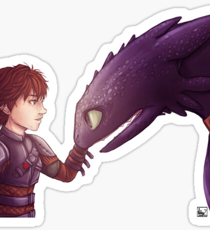 Hiccup & Toothless Sticker