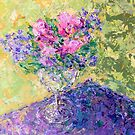 flowers in a glass by -KAT-