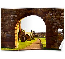ARCHWAY INTO ST ANDREWS CEMETARY Poster
