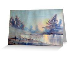 Winter Waterland Greeting Card