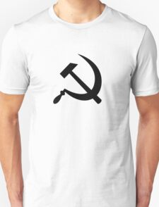 Hammer and Sickle in Black T-Shirt
