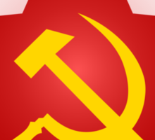 Hammer and Sickle in Red Star Sticker